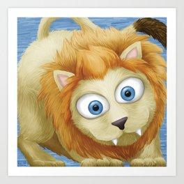 Cute Lion Art Print