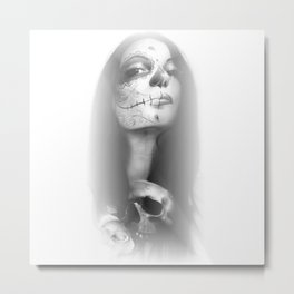 'Dia De Los Muertos Rachel' Metal Print