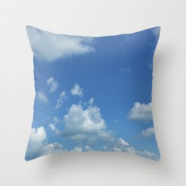 Swedish Summer Sky With Clouds Throw Pillow