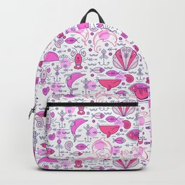 Sea pattern no 2 (pink) Backpack