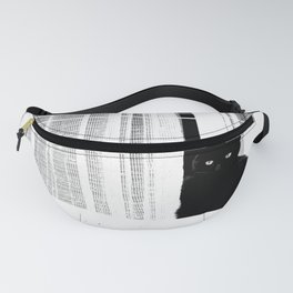 Black Cat #decor #society6 #buyart Fanny Pack
