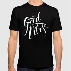 Good Vibes Black Mens Fitted Tee X-LARGE