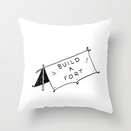 Build a fort Throw Pillow
