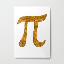 Funny Pi Day Shirt Pecan Nuts Pie Math Geek Student Gift T Shirt Metal Print