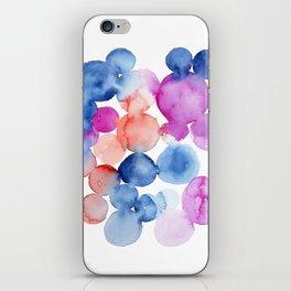 Abstract Watercolor. Blue Abstract. Blue Watercolor. Abstract Circles. Modern Art, Pink Wall Art. Mo iPhone Skin