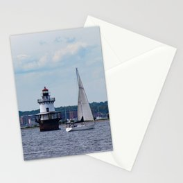 Sailing By the Lighthouse Stationery Cards