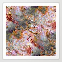 Rainbow Marble 1 Art Print
