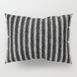 Black and White Silver Fox Fur Pattern Pillow Sham