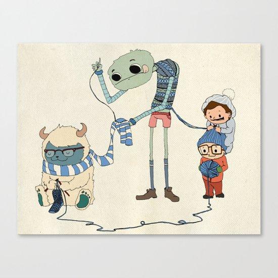 Knitting Train Canvas Print
