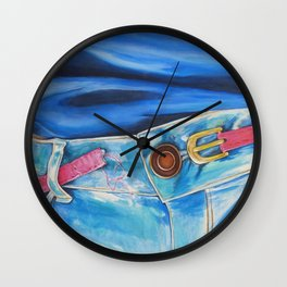 Coming Undone Wall Clock