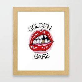 Golden Babe Framed Art Print