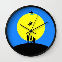 Watching Somebody Flying Wall Clock