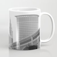 cleveland Mugs featuring Cleveland Skyline  by TiffanyOneillPhotography
