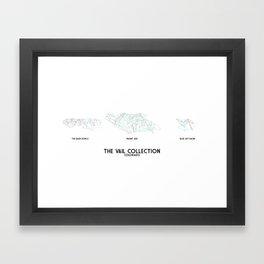 Vail Collection - Minimalist Trail Art Framed Art Print