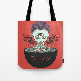 Rainbow Ramen Noodles Anime Monster Girl Tote Bag