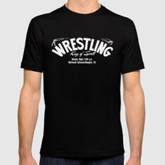 B&W Wrestling Logo SMALL Black Mens Fitted Tee