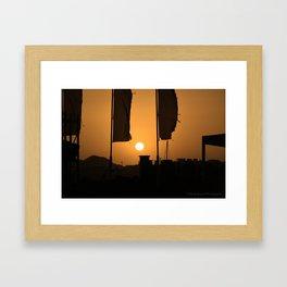 gold sky Framed Art Print