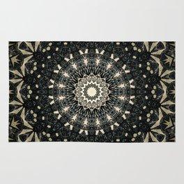 Decorative Black Ink Bohemian Mandala Rug