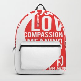Fire flame and virtues Backpack