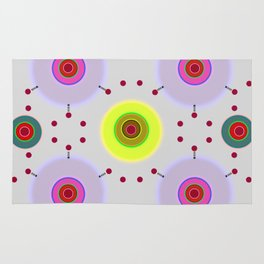 Colored discs with dots Rug
