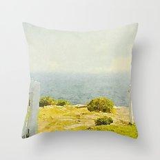 Pemaquid Point, Gate to the Ocean  Throw Pillow