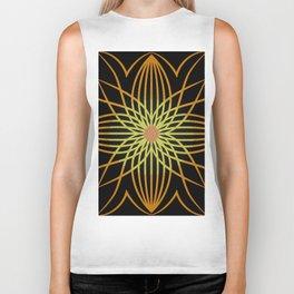 Fall Sunflower in Black Biker Tank