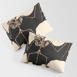 Vintage French zoological board - Bat skeleton Pillow Sham
