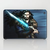 thorin iPad Cases featuring Thorin in Blue by wolfanita