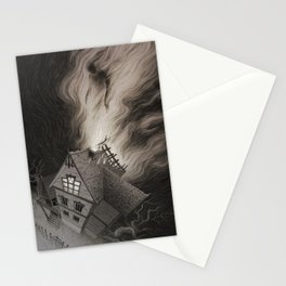 Moving out of the Crooked House Stationery Cards
