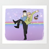 New Frontiers - Kirk and Spock Art Print