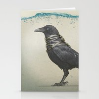 band Stationery Cards featuring Raven Band by Vin Zzep