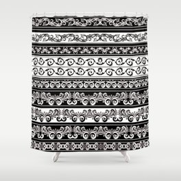 Lace Boarder Shower Curtain