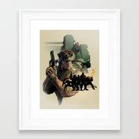 metal gear Framed Art Prints featuring METAL GEAR by Emilio Lopez