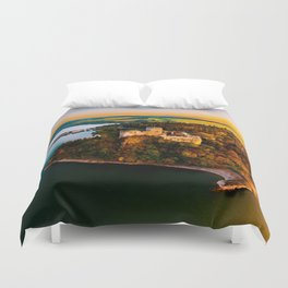 Nidzica Castle in Pieneny National Forest, Poland Duvet Cover