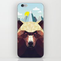 mountain iPhone & iPod Skins featuring Bear Mountain  by Davies Babies