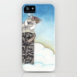 Miss Kitty Takes New York iPhone Case