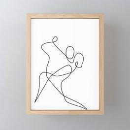 minimal line dance Framed Mini Art Print