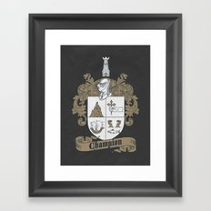 Champion Crest Framed Art Print