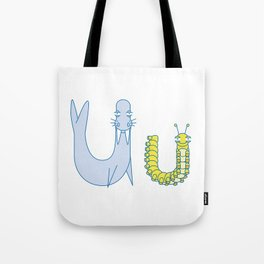 U Uppercase/Lowercase Pair, no border Tote Bag