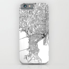 Tampa White Map iPhone Case