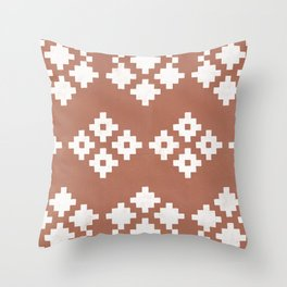Geometric Pattern | Clay Background Throw Pillow