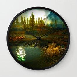 Landscape of Skyrim Wall Clock