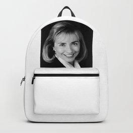 Black & white Portrait of HRC (1992) Backpack
