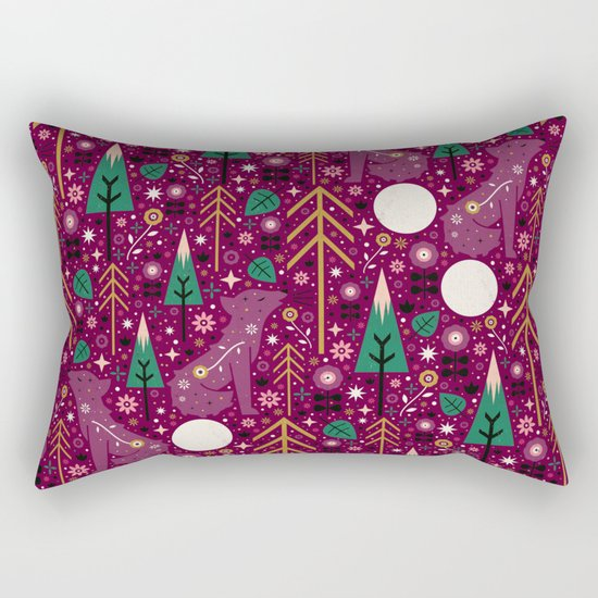 Howling Wolf Rectangular Pillow