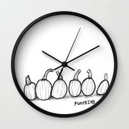 Six Pumpkins Wall Clock