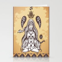 om Stationery Cards featuring om by flamenco72
