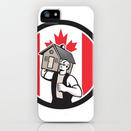 Canadian House Removal Canada Flag Icon iPhone Case