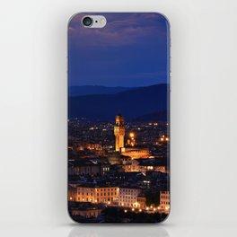 Panorama of Duomo Santa Maria Del Fiore, tower of Palazzo Vecchio. iPhone Skin