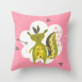Camp Wichita Girls Throw Pillow
