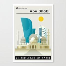 Abu Dhabi Landscape Illustration Canvas Print